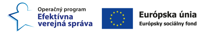logá Operačného programu Efektívna verejná správa a Európskeho sociálneho fondu
